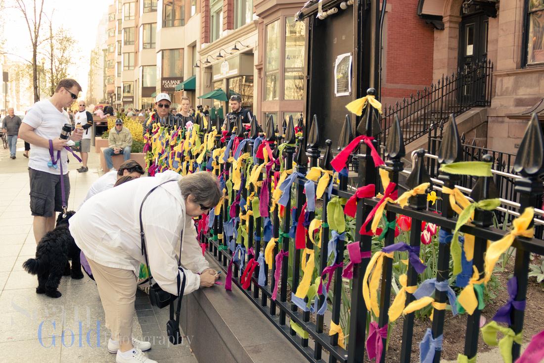 Boston Marathon Bombing Boylston Memorial Sean Gold