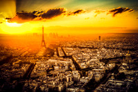 Sunset Haze Over Paris