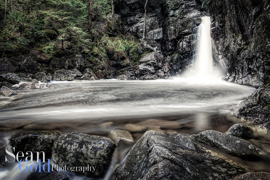 Kinsman Falls New Hampshire White Mountains Sean Gold HDR Franconia Notch