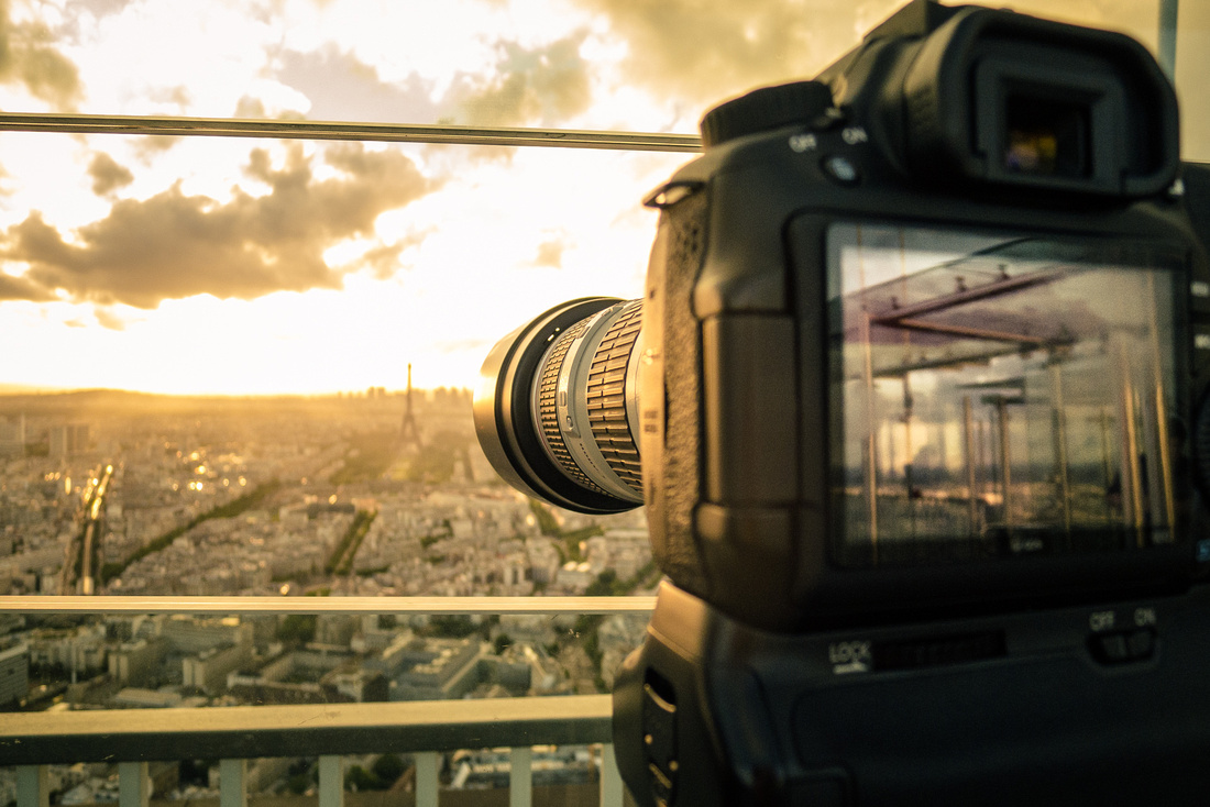 Shooting the sunset over Paris.