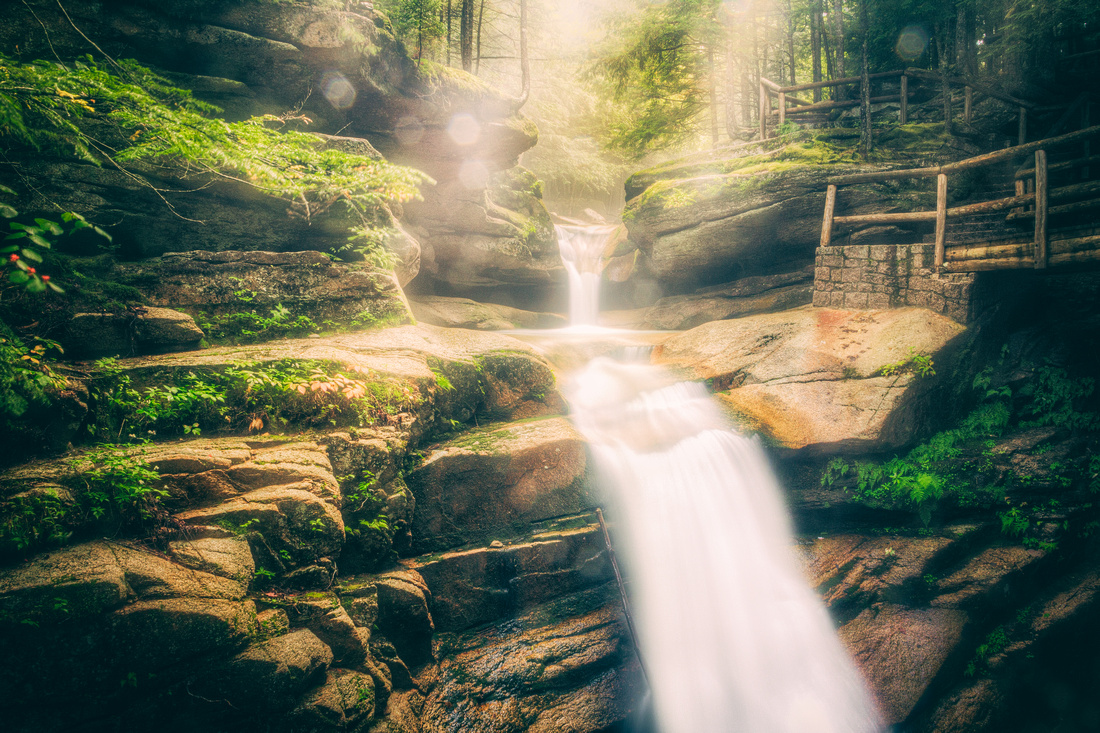 Sabbaday Falls in the White Mountains of New Hampshire
